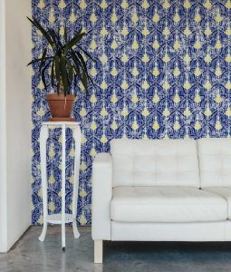 Estella Admiral Sun blue and yellow wallpaper from HD Walls