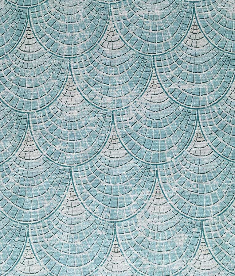 Seafoam tiled wall paper pattern