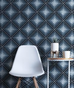 Gray and blue tile pattern wallpaper from HD Walls