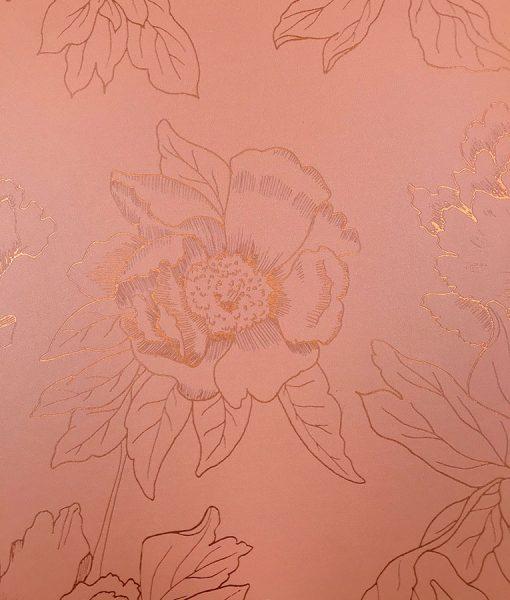 Metallic floral wallpaper print