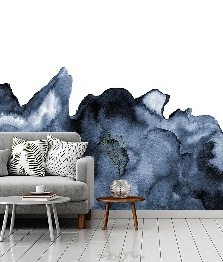 oversized watercolor mural