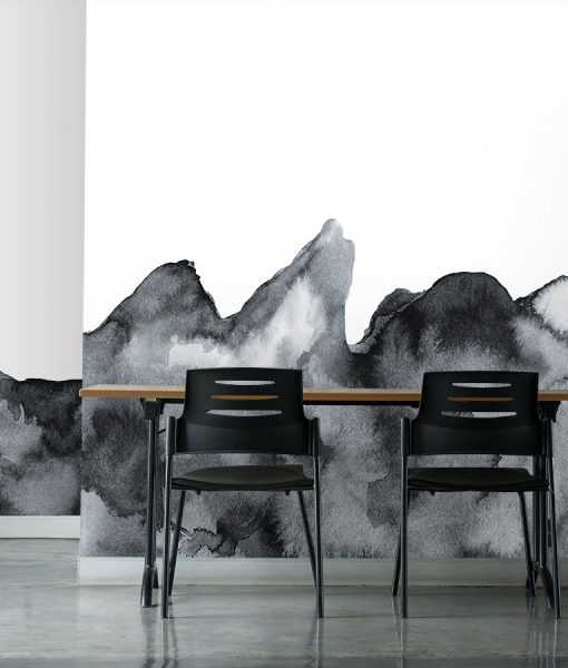 Watercolor spill printed wallpaper