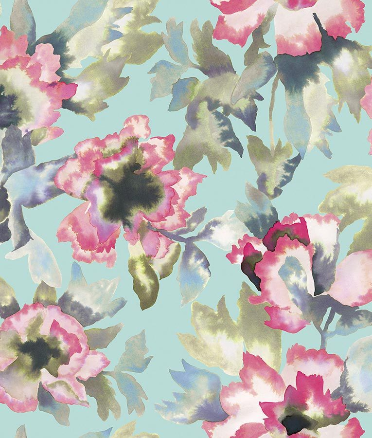 Designer floral wallpaper pattern