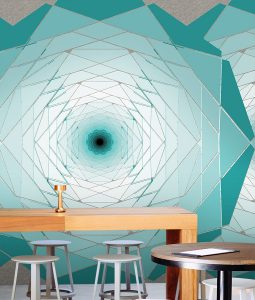 HD Walls - Geometric pattern: Genesis with Zaffer colorway - Roomset