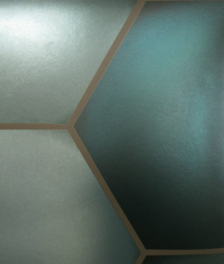 HD Walls - Geometric pattern: Mandrake with Alloy colorway